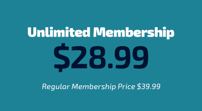 SALE! Unlimited Membership for $29.99 per month.