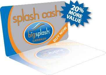 Gift cards big splash car wash overland park ks kansas city mo buy a gift card for a friend or for yourself splash cash is a great gift for anyone who likes having a clean car solutioingenieria