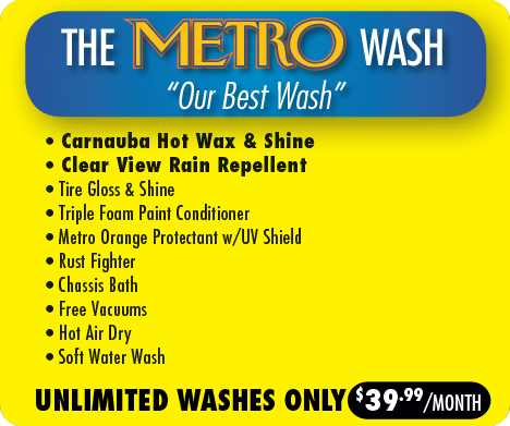 Unlimited Metro Wash Plan