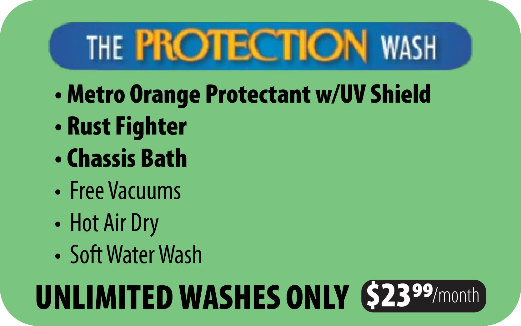 Unlimited Protection Wash Plan