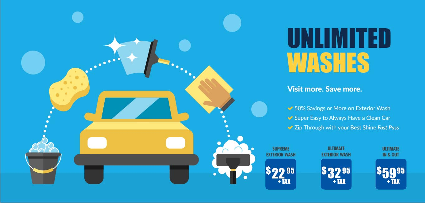 Unlimited Washes - Visit More. Save More.