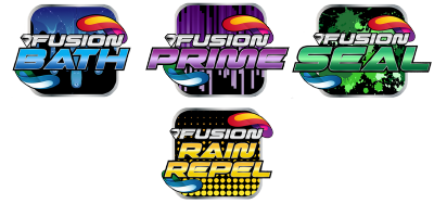 Includes Fusion Bath, Fusion Prime, Fusion Seal, and Fusion Rain Repel