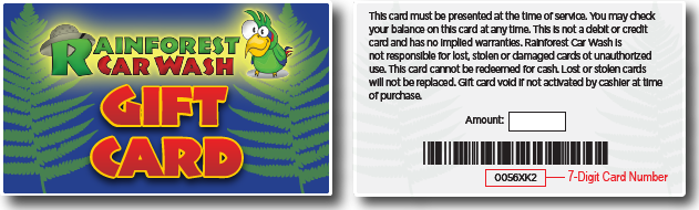 Gift Card Front and Back