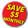 Save $5.00 Monthly