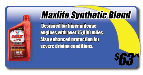 Triple Play Oil Change Maxlife Synthetic Blend