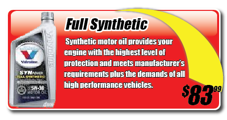 Triple Play Oil Change Synpower Full Synthetic