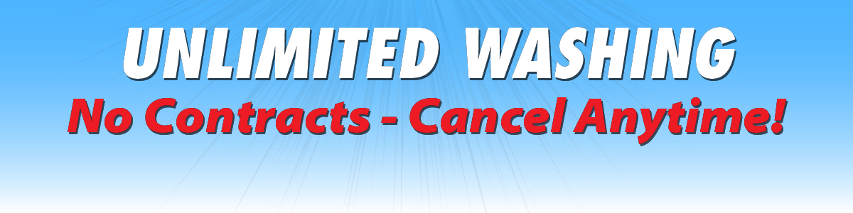Unlimited Washing - No Contract, Cancel Anytime!